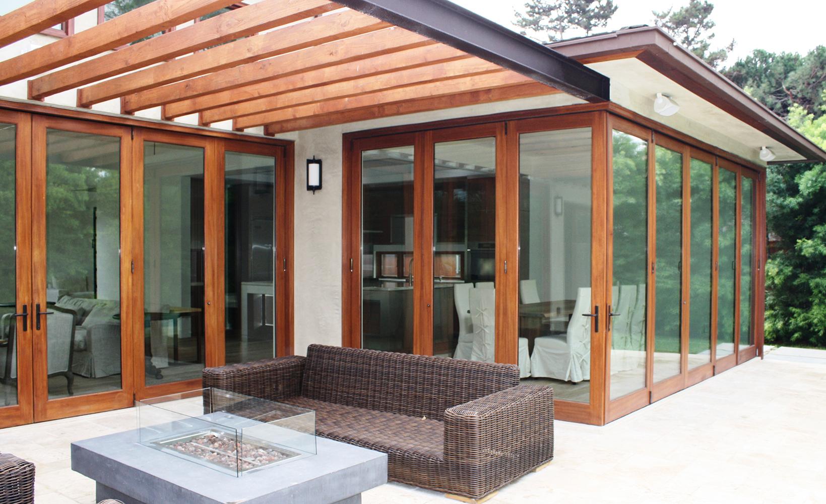 Agm Zero Corner All Wood Bifold Patio Door Priority Door